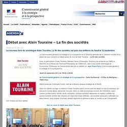 Débat avec Alain Touraine - La fin des sociétés - CGSP
