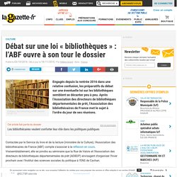 Débat sur une loi « bibliothèques » : l'ABF ouvre à son tour le dossier