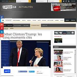 Débat Clinton/Trump: les cinq moments clés