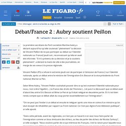 Flash actu : Débat/France 2 : Aubry soutient Peillon