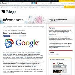 Débat : la fin de Google Reader