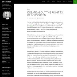 Debate about the right to be forgotten