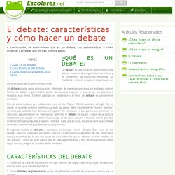 El debate: características y cómo hacer un debate