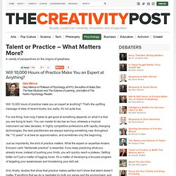Talent or Practice – What Matters More?