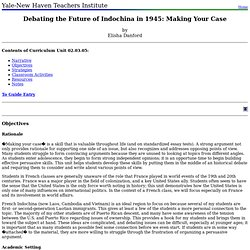 02.03.05: Debating the Future of Indochina in 1945: Making Your Case