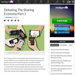 Debating The Sharing Economy Part 1