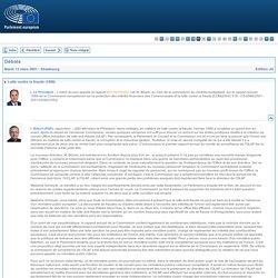 PARLEMENT EUROPEEN 13/03/01 Débat : lutte contre la fraude.