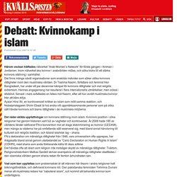 Debatt: Kvinnokamp i islam