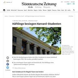 Debattier-Duell - Häftlinge besiegen Harvard-Studenten - Panorama
