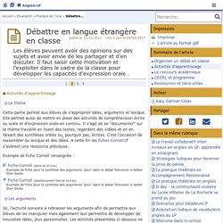 Débattre en langue étrangère en classe - Page 2/4 - Anglais LP