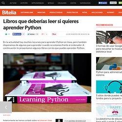 Libros que deberías leer si quieres aprender Python