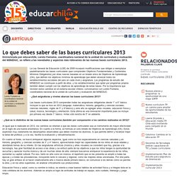 Lo que debes saber de las bases curriculares 2013