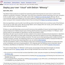 """Actualités -- Déployer votre propre """"nuage"""" avec Debian """"Wheezy"""""""