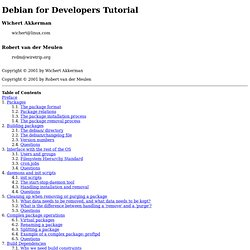 Debian for Developers Tutorial