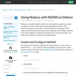 Using Node.js with NGINX on Debian