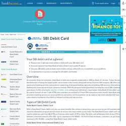 SBI Debit Card - Apply Online for Best Debit Cards from SBI