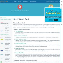 Debit Card: Compare Best Debit Cards in India & Apply Online