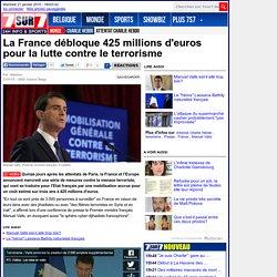 La France débloque 425 millions d'euros pour la lutte contre le terrorisme