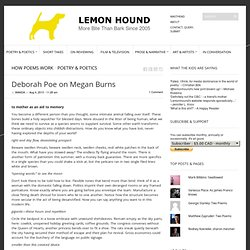 Deborah Poe on Megan Burns