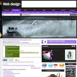 Gérer les débordements de contenus grâce à CSS