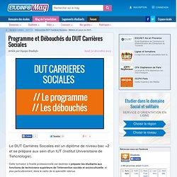 Débouchés DUT Carrières Sociales : Métiers et cours du DUT CS
