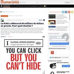La RIAA a déboursé 64 millions de dollars en procès. Pour quel résultat ? - Numerama