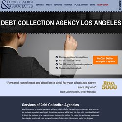 Debt Collection Agency Los Angeles