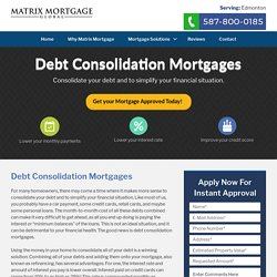 Debt Consolidation Edmonton - Get Debt Consolidation from Us!