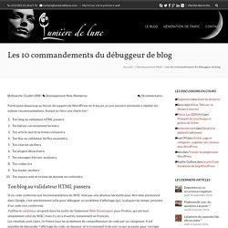A faire pour débugger son blog WordPress (ou Dotclear) | Encre d