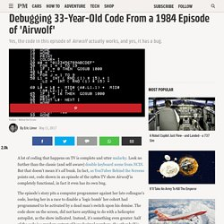 Debugging the Code From an 80s TV Show