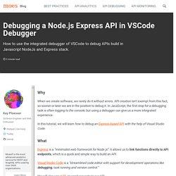 Debugging a Node.js Express API in VSCode Debugger