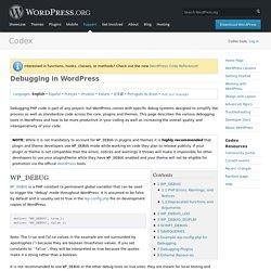 Debugging in WordPress