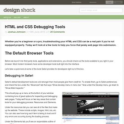 HTML and CSS Debugging Tools