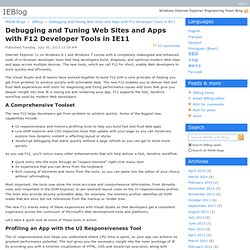 Debugging and Tuning Web Sites and Apps with F12 Developer Tools in IE11 - IEBlog