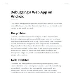 Debugging a Web App on Android