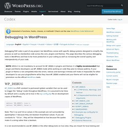 Debugging in WordPress