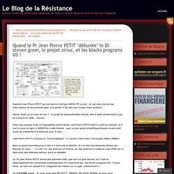 """Quand le Pr Jean Pierre PETIT """"débunke"""" le Dr steven greer, le projet sirius, et les blacks programs US"""