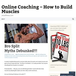 Online Coaching – How to Build Muscles