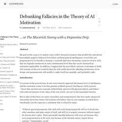 Debunking Fallacies in the Theory of AI Motivation - LessWrong 2.0