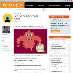 Debunking Homework Myths