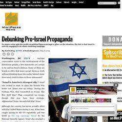 Debunking Pro-Israel Propaganda