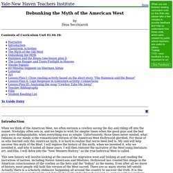 01.04.10: Debunking the Myth of the American West