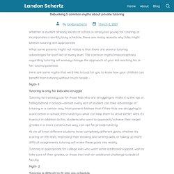 Debunking 5 common myths about private tutoring - LandonSchertz