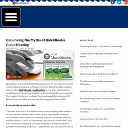 Debunking the Myths of QuickBooks Cloud Hosting