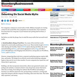 Debunking Six Social Media Myths