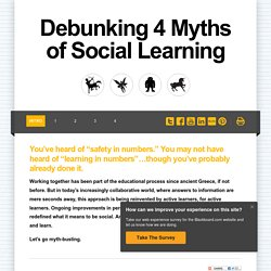 Debunking 4 Myths of Social Learning