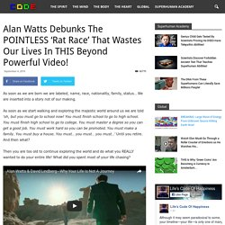 Alan Watts Debunks The POINTLESS 'Rat Race' That Wastes Our Lives In THIS Beyond Powerful Video!