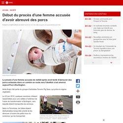 Début du procès d'une femme accusée d'avoir abreuvé des porcs