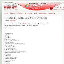 Joomla 2.5 Le guide pour débutant en Français - tutoriels joomla! - WEB 54 création de site internet en lorraine