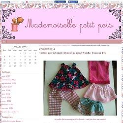 Couture pour débutante vêtements de poupée Corolle: Trousseau d'été - Le blog de Mademoiselle Petit Pois